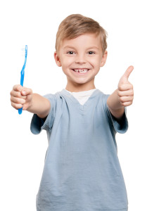 Boy with tooth brush