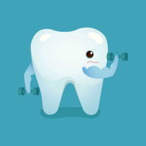 Tooth be strong of dental vector design